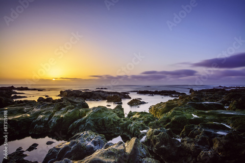 Foto op Aluminium Strand Sonnenuntergang Punta del Hidalgo - Teneriffa