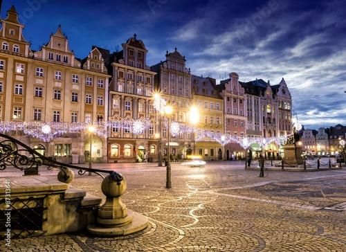 Fototapeta Wroclaw at night, Poland