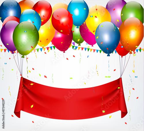 """Happy Birthday Banner Background. Vector."" Stock Image"