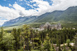 Fairmont Banff Spring Hotel  and the Sulphur Mountain in Banff