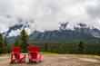 Hoodoos trail and red chairs