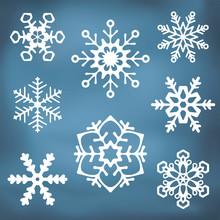 Ozdobny Snowflake sylwetki