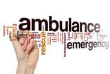 Ambulance word cloud concept