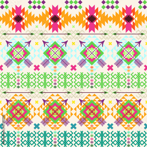 Tribal seamless background - 87392206