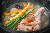 参鶏湯 韓国料理 samgyetang chicken ginseng soup Korean