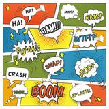Fototapety Emotional And Sound Comic Bubbles Set