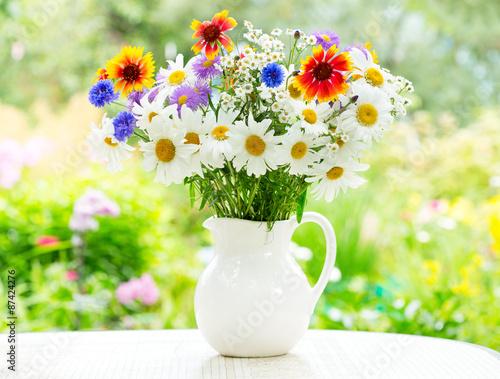 obraz PCV bukiet kwiatów letnich