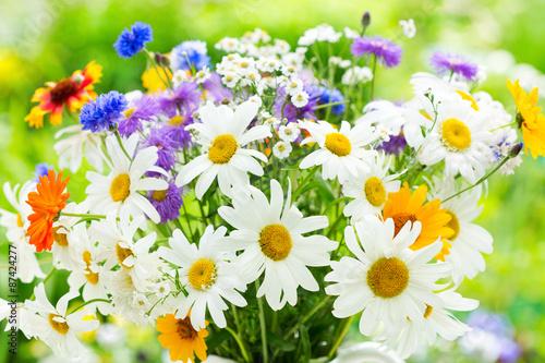 obraz lub plakat bukiet kwiatów letnich