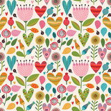 Romantic floral seamless pattern - 87426464