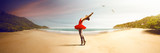 Fototapety Ballet Dancer at the beach
