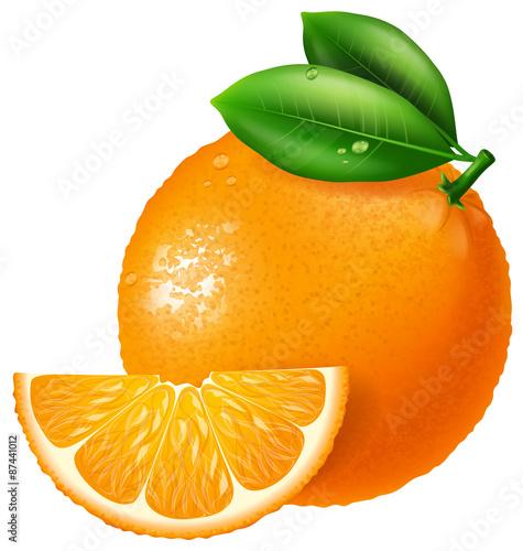 Orange illustration.