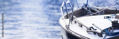 Poster Sailing boat, horizontal background