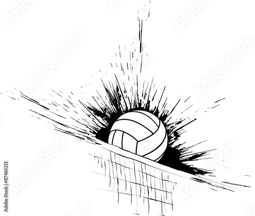 Fototapeta Volleyball Splatter Net