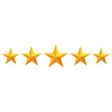 Icono 5 estrellas dorado