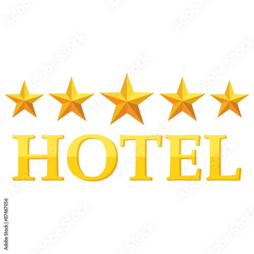 Fotomural icono hotel 5 estrellas dorado ref 87467056 - Hotel salamanca 5 estrellas ...