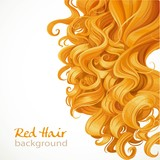 Fototapety Red hair background