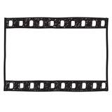 Fototapety Film strip background. Empty film frame sketch style , vector.