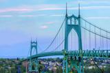 St. John's Bridge in Portland Oregon, USA - 87479625