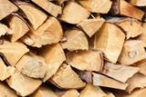 Split pine logs, full frame