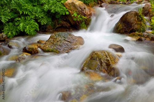 Plakat Mountain river. Falls in Georgia.
