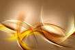 Gold Abstract Waves Art Composition Background