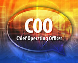 COO acronym word speech bubble illustration