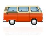 Fototapety retro minivan vector illustration