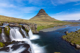 The iconic Kirkjufell at the Snaefellsnes peninsula in Iceland poster