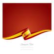 Obrazy na płótnie, fototapety, zdjęcia, fotoobrazy drukowane : New abstract Spanish flag ribbon