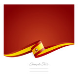 New abstract Spanish flag ribbon