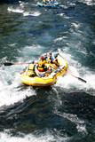 white water river rafting in a raft