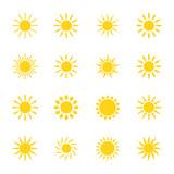 Fototapety Set of icons sun, vector illustration