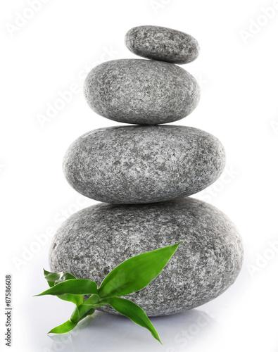 sterta-zdrojow-kamienie-z-zielonymi-liscmi-odizolowywajacymi-dalej