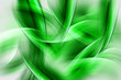 Green Abstract Waves Art Composition Background