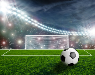 Fototapeta piłka na boisku