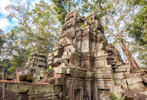 Ta Prohm Temple ancient tree roots, Angkor Poster