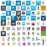 Fototapety large set of vector logos school and books