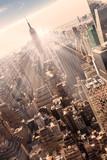 Fototapety New York City Manhattan skyline in sunset.
