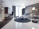 Fototapety Idea of contemporary living room