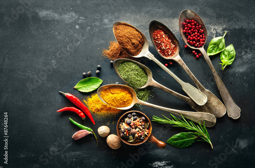Poster, Tablou Various herbs and spices