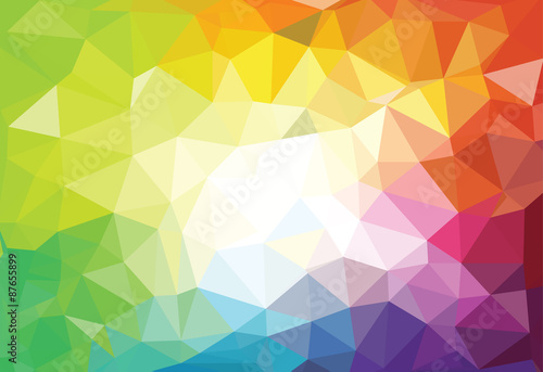 obraz PCV pattern of geometric shapes. Triangle mosaic backgrounds