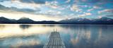 Fototapety spiegelglatter See