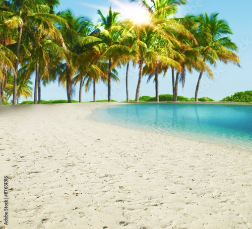 Fototapeta Paradise tropical beach