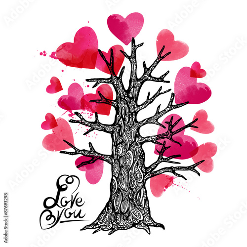 love tree design