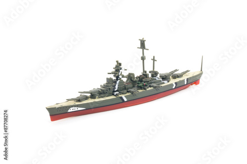 Poster World war II warship model toy