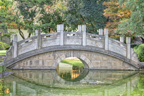 Fototapeta chinese garden bridge detail view