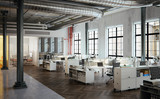 Fototapety Stylish old downtown Loft Agency Office - Stylische Büro Agentu