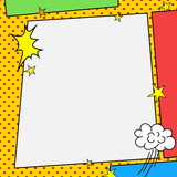 Comic book style frame