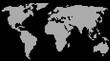 Weltkarte auf dem Rasen