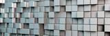 Fototapety Panorama Hintergrund aus grauen Würfeln